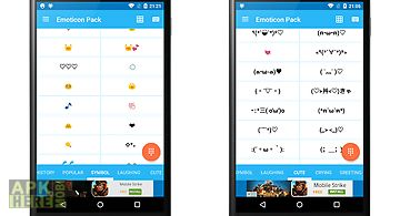 Emoticon pack with cute emoji