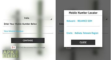 Mobile cal number locator