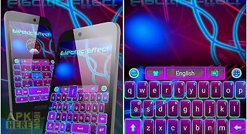 Electric effect keyboard theme