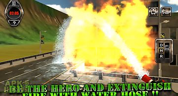 Extreme rescue fire truck 3d