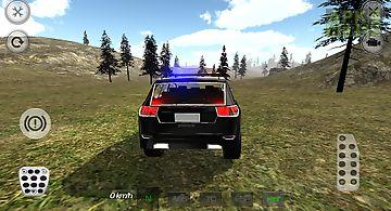 Mountain suv police car