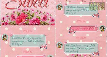 (free) go sms pro sweet theme