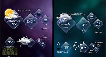 Clear glass go weather widget