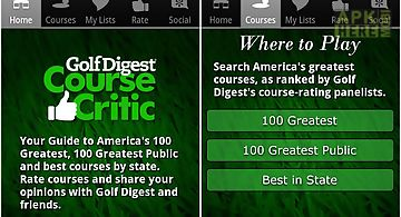 Golf digest course critic