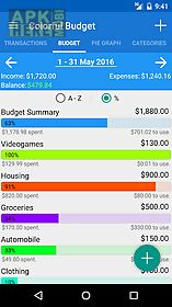 colorful budget app for android description simple and minimalistic budget planner money tracker keep track of all incomes and expenses or just check how