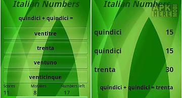 Learn italian numbers free