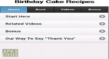 Birthday cake recipes app