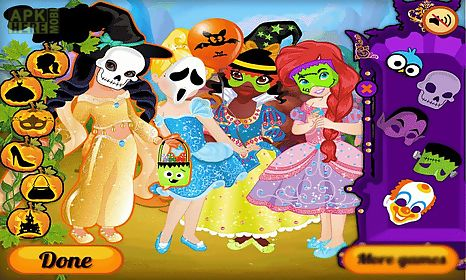 dress up princess on halloween