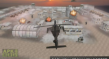 Helicopter commando air strike