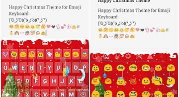 Merry christmas emoji keyboard