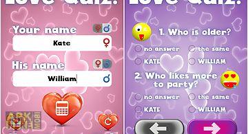 Love test quiz for fun