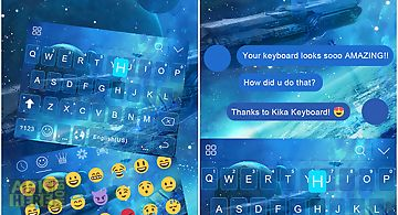 Neon blue kika keyboard theme for Android free download at