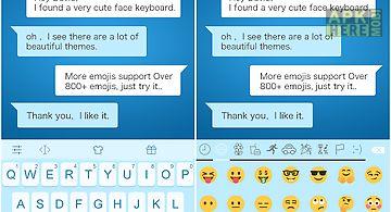 Emoji keyboard - blue white