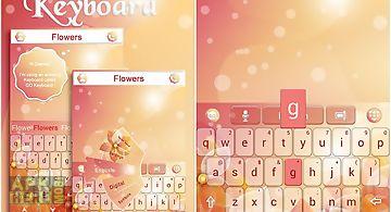 Flowers go keyboard theme