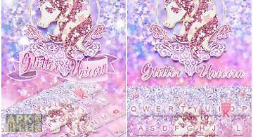 Glitter unicorn kikakeyboard🦄