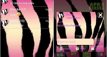 Pink zebra theme for go sms