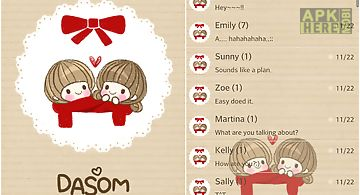 Dasom(love) go sms theme