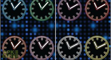Glowing neon clocks - free