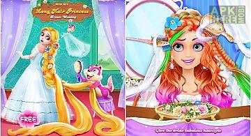 Long hair princess wedding