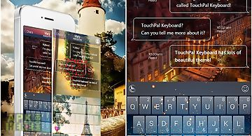 Touchpal natural wood theme for Android free download at Apk