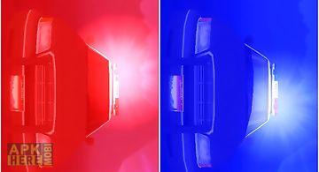 Flashing police lights