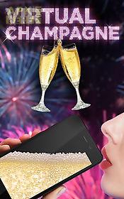 virtual champagne drinking