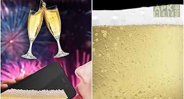 Virtual champagne drinking