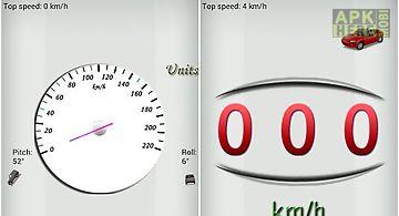 Gps speedometer: white version