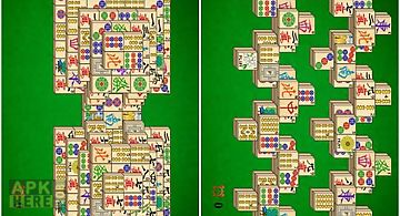 Mahjong solitaire card game