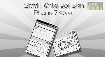 Slideit white wolf skin