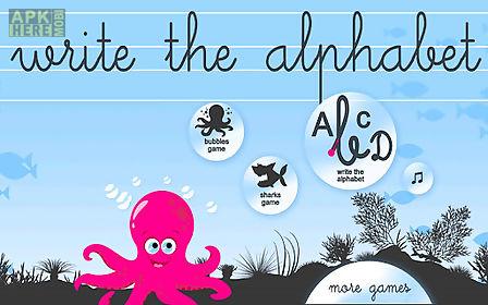 write the alphabet for kids