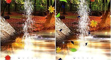 Forest 3d waterfall wallpaper