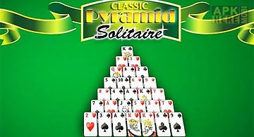 Classic pyramid solitaire