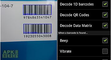 Barcode reader and qr scanner for Android free download at