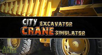 City excavator crane simulator