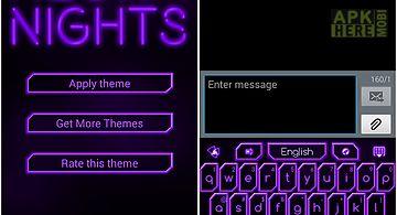Go keyboard purple neon theme