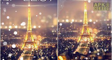 Paris night light lwp Live Wallp..
