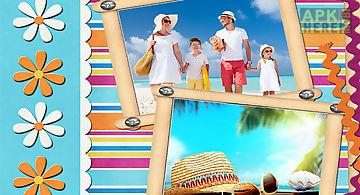 Summer holiday photo frames