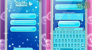 Neon blue keyboard changer