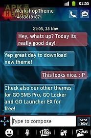 go sms pro theme blue smoke