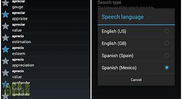 Offline spanish english dict.