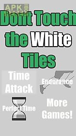 dont step the white glass tiles