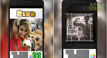 Blur square photo editor