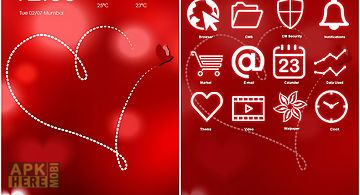 Heart cm launcher theme