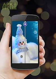 snowman zipper screen lock