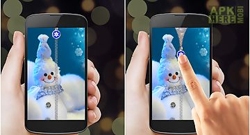Snowman zipper screen lock