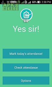 yes sir- attendance manager
