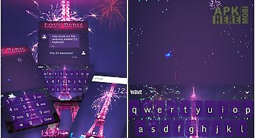 Paris love animated keyboard