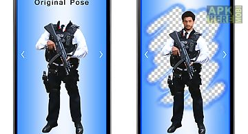 Police uniform men photo maker