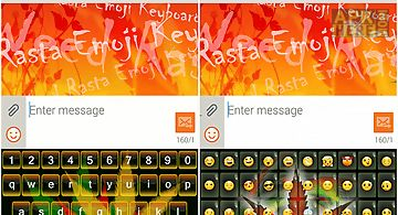Weed rasta emoji keyboard